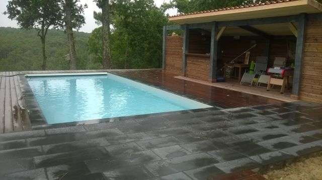 Am nagement des abords de piscine terrasse et pool house - Piscine pool house des idees ...